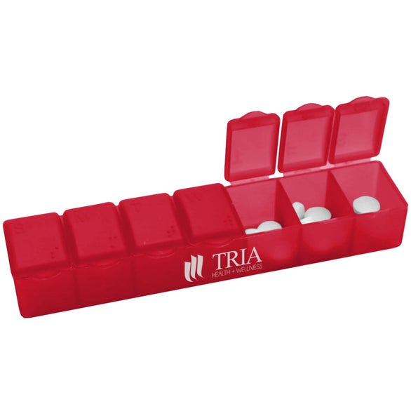 Transparent Red 7-Day Pillcase