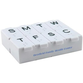7 Day Pillbox w/Pill Splitter