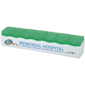 7 Day Release Pill Box Imprinted with Your Logo