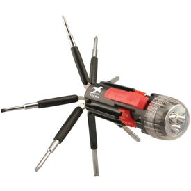 Custom 8-in-1 Screwdriver Flashlight
