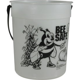 Glow-in-the-Dark Pail with Handle (87 Oz.)