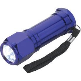 Imprinted 8-LED Aluminum Flashlight