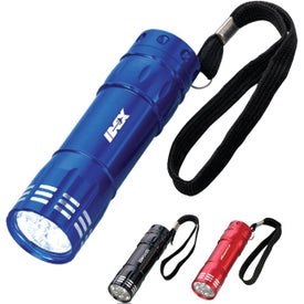 8 LED Flashlight Branded with Your Logo