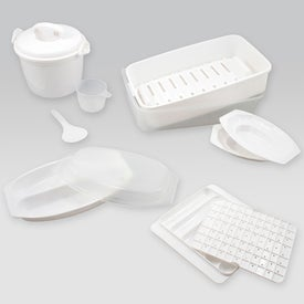 8 Pc Microwave Cooking Set Printed with Your Logo