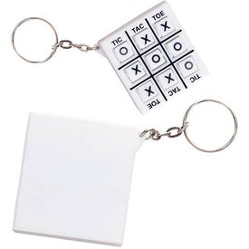 Tic-Tac-Toe Key Chain Printed with Your Logo