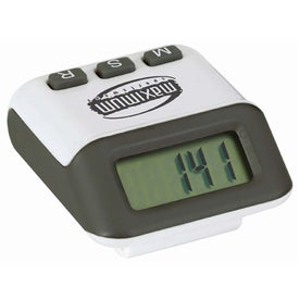 Accent Pedometer Imprinted with Your Logo