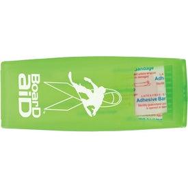 Adhesive Bandage Dispenser with Your Slogan