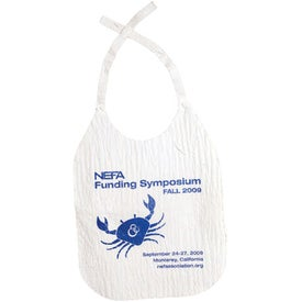 Adult Bib- Disposable Imprinted with Your Logo