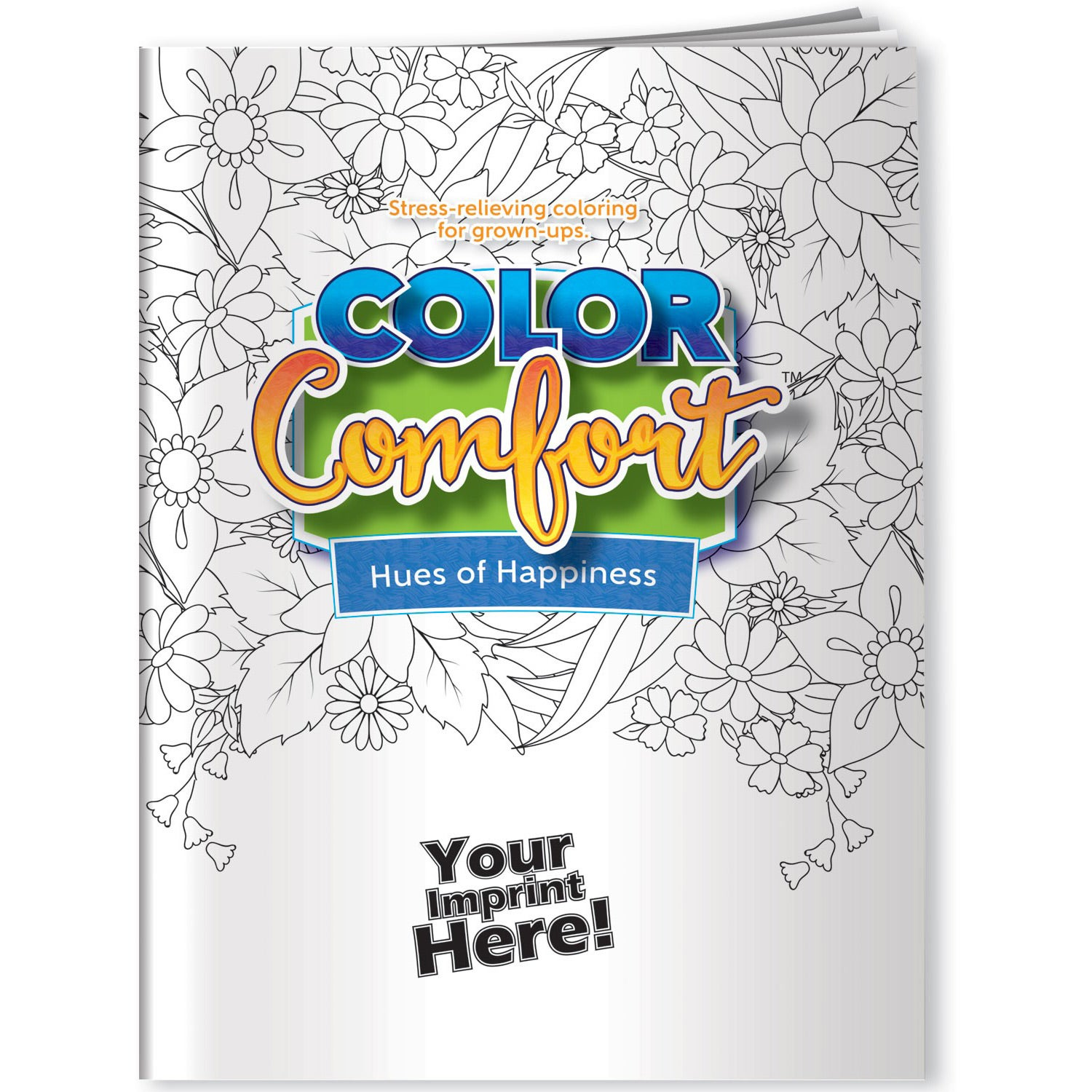 Hues of Happiness Adult Coloring Book (Flowers)