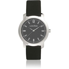 Personalized Round Watch with Cowhide Band