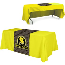 "Table Runner (Front, Top, 28"" x 60"", Full Color Logo)"
