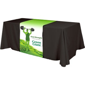 "Table Runner (Front, Top, Back, 28"" x 90"", Full Color Logo)"
