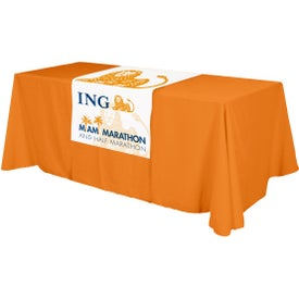 "Table Runner (Front, Top, 28"" x 48"", Full Color Logo)"