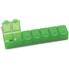 "Monogrammed All-Week Pill Box - 6"""