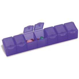 Branded All-Week Pill Box - 6""
