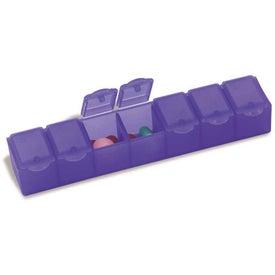 "Branded All-Week Pill Box - 6"""
