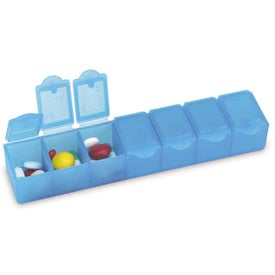 Monogrammed All-Week Pill Box - 6""
