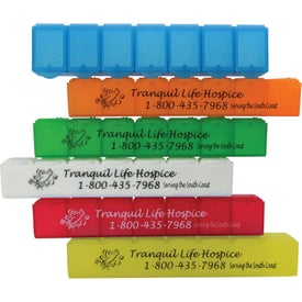 Logo Big 7 All-Week Pill Box 7""