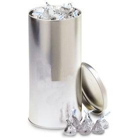 Monogrammed Aluminium Tin Canister