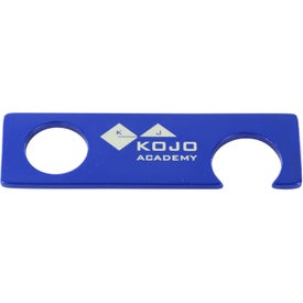 Advertising Aluminum Bottle Opener With Grip Hole