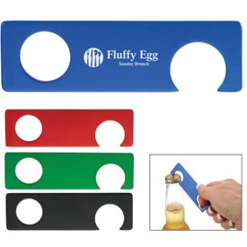 Aluminum Bottle Opener With Grip Hole with Your Slogan