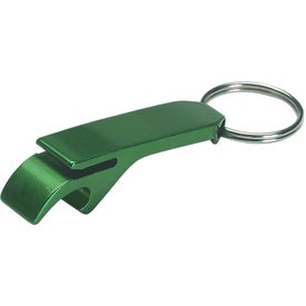 Aluminum Bottle / Can Opener Key Ring Imprinted with Your Logo