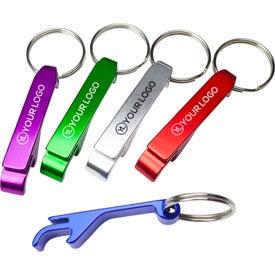Aluminum Bottle / Can Opener Key Ring