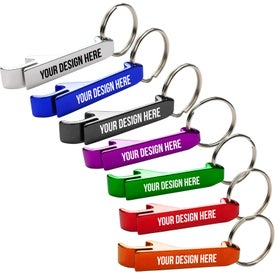 Aluminum Bottle / Can Opener Key Ring