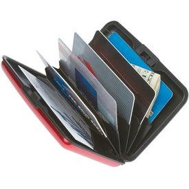Monogrammed Aluminum Card Case