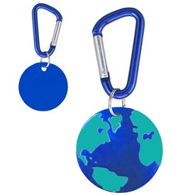 Aluminum Dog Tag Keychain with Your Slogan