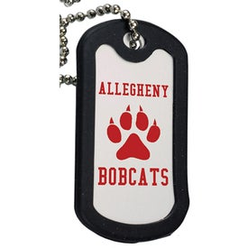 Aluminum Dog Tag with Black Trim