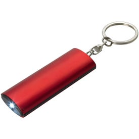 Aluminum Key Chain Flashlight with Your Slogan