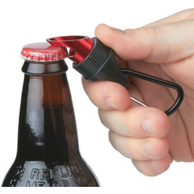 Advertising Aluminum LED Torch With Bottle Opener