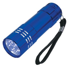 Company Aluminum LED Flashlight With Strap