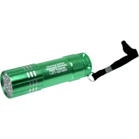 Aluminum LED Flashlight With Strap for Your Organization