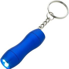 Personalized Mini Aluminum LED Light Key Chain
