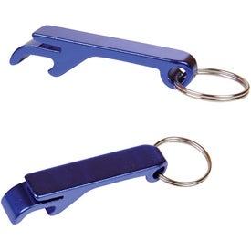 Company Aluminum Bottle Opener Key Tag