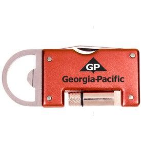 Company Aluminum Pocket Pal with LED Light