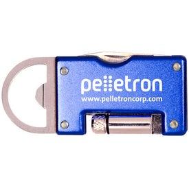 Advertising Aluminum Pocket Pal with LED Light