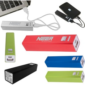 Aluminum Power Bank Emergency Battery Charger (2200 mAh, UL Listed)