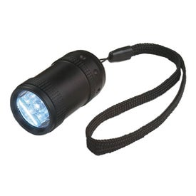 Aluminum Small Stubby LED Flashlight With Strap for Your Organization