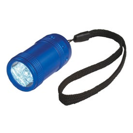 Aluminum Small Stubby LED Flashlight With Strap