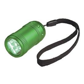 Custom Aluminum Small Stubby LED Flashlight With Strap