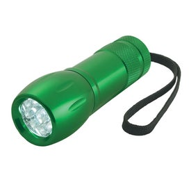 Branded Aluminum LED Torch Light With Strap