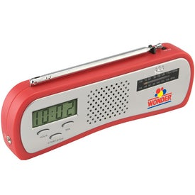 Monogrammed AM/FM Alarm Clock Radio