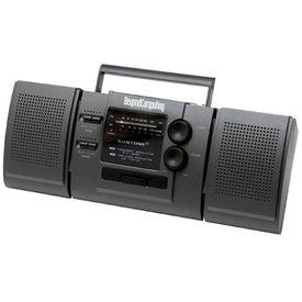 AM/FM Boom Box Radio With Detachable Speakers