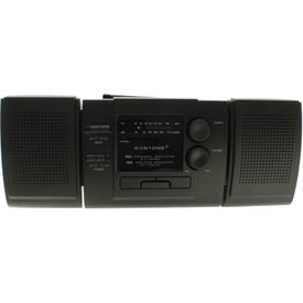 AM/FM Boom Box Radio With Detachable Speakers for Advertising