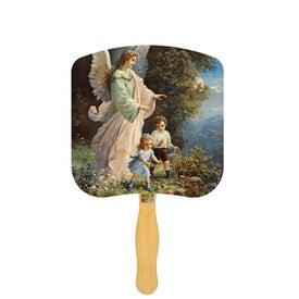 Guardian Angel Religious Fan (Full Color)
