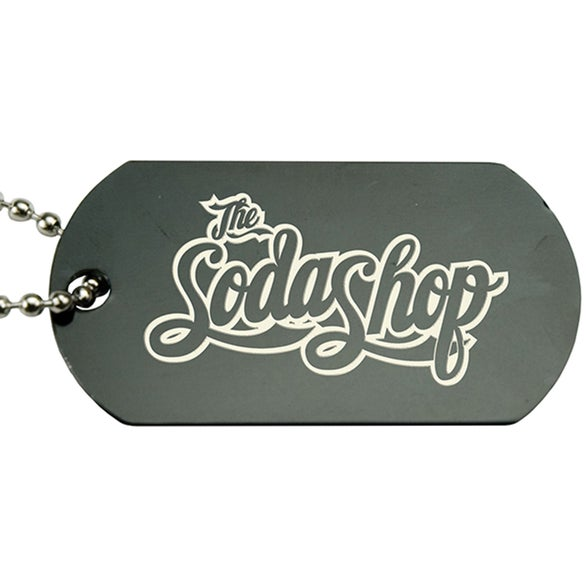 Black Anodized Aluminum Dog Tag