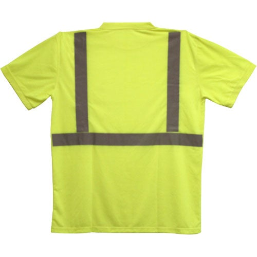 Ansi 2 yellow safety t shirt trade show giveaways 11 for Safety logo t shirts